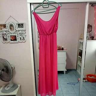 Pink Sleeves Dress
