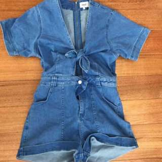 RENTING SEED DENIM PLAYSUIT