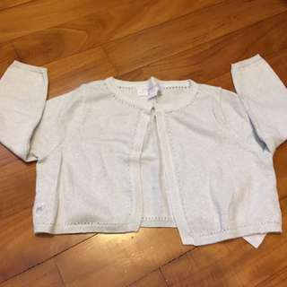 Chateau De Sable Girl's Silver Cardigan