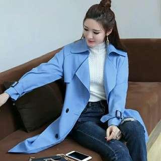 淺藍孖襟外套💙