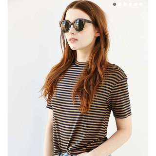 Urban Outfitters琥珀金邊太陽眼鏡