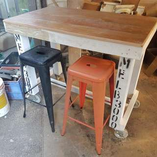 Recycled timber island Bar Table