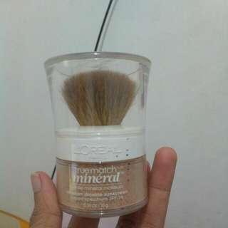 Turun Harga. Bedak L'oreal True Match Mineral