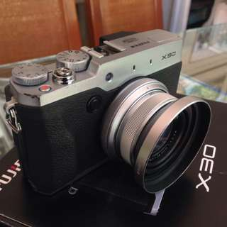 Fujifilm X30 camera with freebies