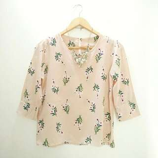 Soft Pink Floral Top