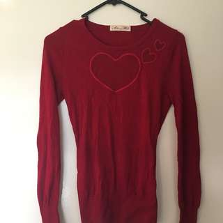 ALANNAH HILL Mesh Heart Cut Out Top