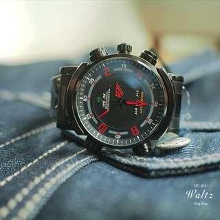 Weide 雙顯示多功能防水手錶