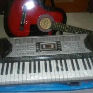 Keyboard+guitar