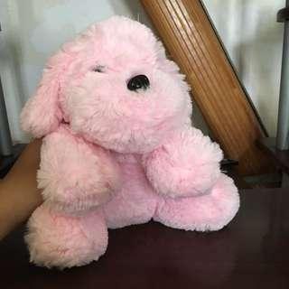 粉紅狗狗玩偶