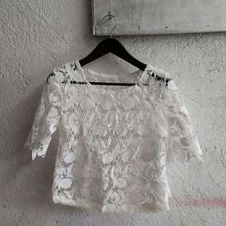 Lacey-paisley White Top