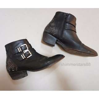Witchery Leather Ankle Boots - Size 38