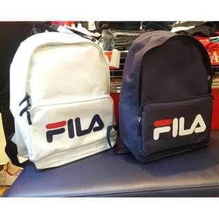 FILA大logo後背包 -白