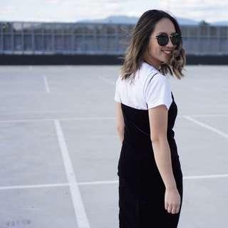 BRAND NEW Forcast Velvet Slip Dress