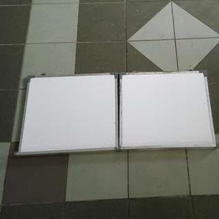 Magnetic White Boards X2