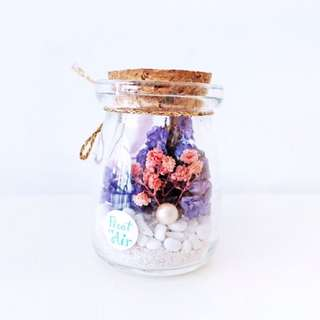 Aerium: Fond Tiny With Preserved Flowers / Purple / Pink