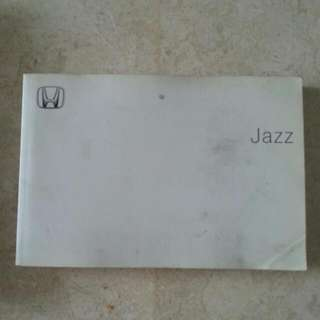 Honda Jazz GD1 Owner's Manual And Leather Folder