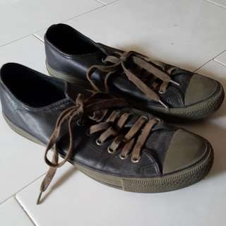 Black and Grey CONVERSE All Star Shoes