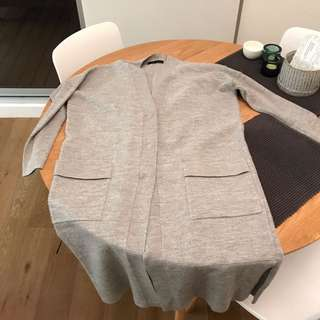 SABA 100% Merino Wool Long Cardigan