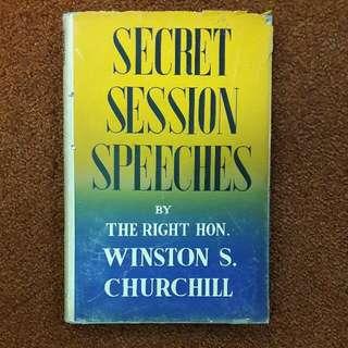 Secret Session Speeches - First Edition 1947 - Winston Churchill