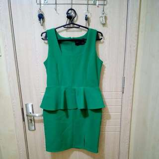 Chloe Edit Peplum Dress w/ Slit