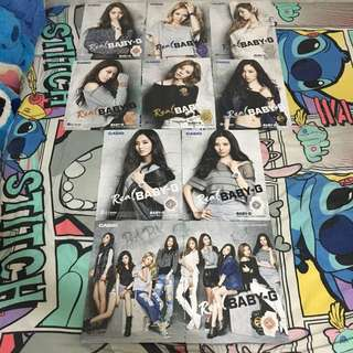 少女時代 Casio 雜誌廣告內頁