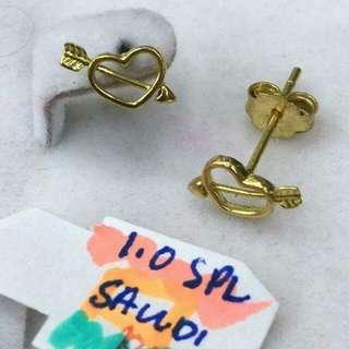 18K Gold Stud Earring