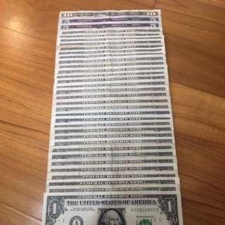 USA Dollars for Singapore Dollars