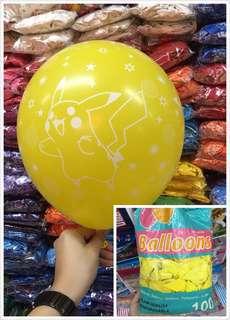 25pcs Pikachu Printed Rubber Balloons