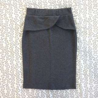 Gray Pencil Skirt