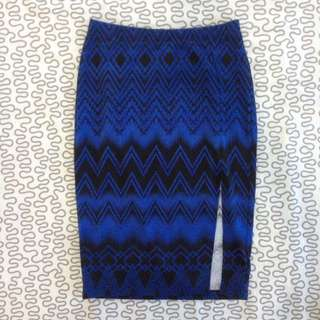 Sexy Pencil Skirt Aztec Print