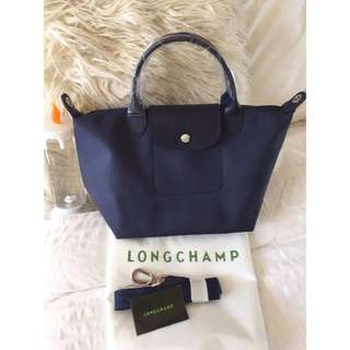 Longchamp Neo Small Navy Bag (New, Genuine, and On Hand for Shipping)