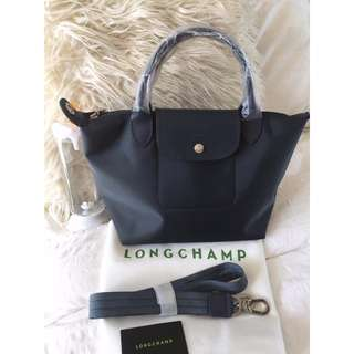 Longchamp Neo Small Graphite Gray Bag (New, Genuine and On Hand for Shipping)