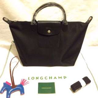 Longchamp Neo Medium Black Bag (New, Genuine and On Hand)