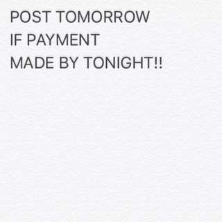 Hurry up! 😊 Posting next day