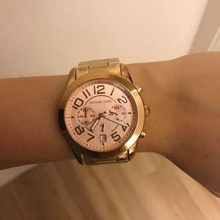 Michael Kors 玫瑰金 手錶