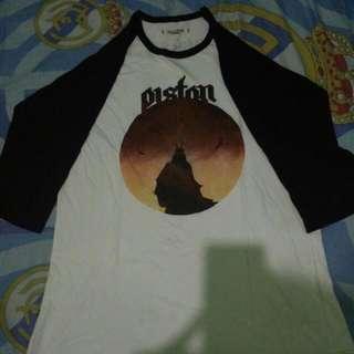 Kaos Raglan Band Piston Titik Nol By Sepsis Records