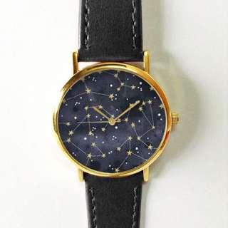 Constellation Watch, Galaxy, Stars, Women's Watch, Men's Watch, Unisex, Handmade