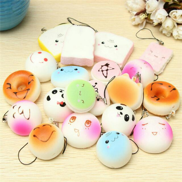 20 PC Medium Sized KAWAII Stress Balls With Phone Straps!