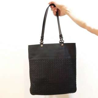 Bottega Veneta Black Woven Bag