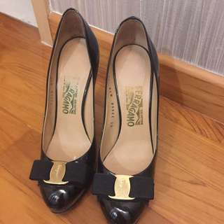 Ferragamo Black Heels