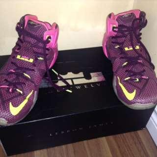 Purple Lebron 12s