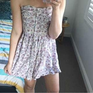 Floral Boob Tube Dress ⚡️