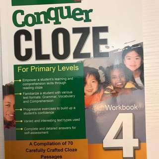 Conquer Cloze For primary Workbook 4