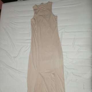 Maxi Dress Nude
