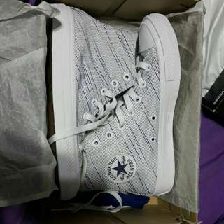 Converse Chuck Taylor All Star II Knit White Blue Lunarlon