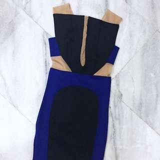 Black Blue Dress