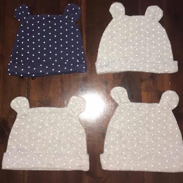 4 Baby Hats