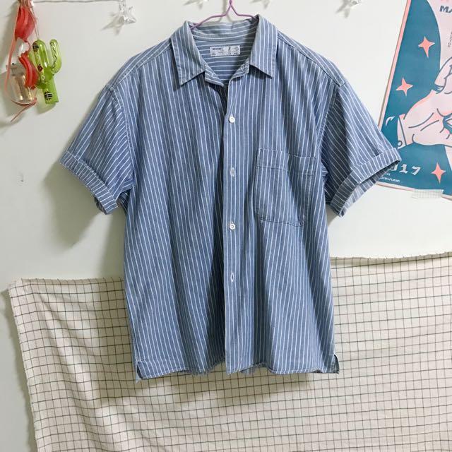 藍白條紋襯衫