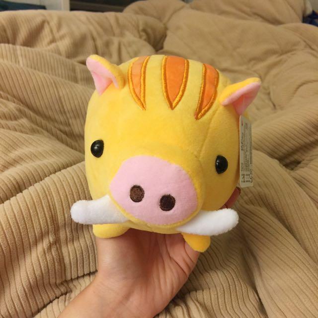 可愛山豬玩偶