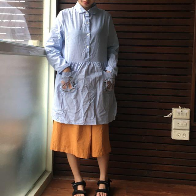 藍色條紋洋裝